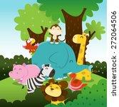 a cartoon vector illustration... | Shutterstock .eps vector #272064506