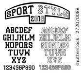 serif font in the retro style...   Shutterstock .eps vector #272070086
