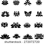 flower set | Shutterstock .eps vector #272072720