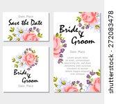 english rose. wedding... | Shutterstock .eps vector #272083478