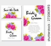 english rose. wedding... | Shutterstock .eps vector #272083493