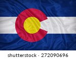 colorado flag on fabric texture ... | Shutterstock . vector #272090696