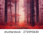 red color saturated foggy... | Shutterstock . vector #272093630
