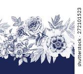 vector seamless pattern. rose ... | Shutterstock .eps vector #272101523