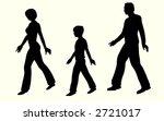 walking family vector | Shutterstock .eps vector #2721017