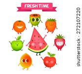 A Set Of Cute Fruit....