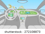head up display  hud  and...   Shutterstock .eps vector #272108873