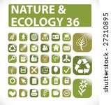36 nature and ecology web icon  ...   Shutterstock .eps vector #27210895