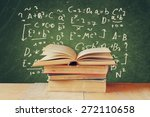 image of school books on wooden ... | Shutterstock . vector #272110658