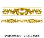 golden ornamental segment  ... | Shutterstock . vector #272115056