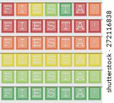 mexican 'papel picado'  paper...   Shutterstock .eps vector #272116838