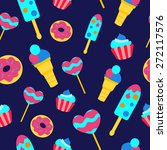 Sweets Seamless Vector Pattern...