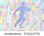 jogging. multicolor silhouette | Shutterstock .eps vector #272121770