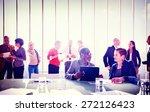 multiethnic group of people... | Shutterstock . vector #272126423
