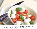 close of tomato and mozarella...   Shutterstock . vector #272132516