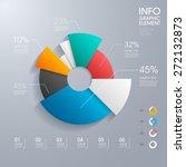 modern vector abstract pie... | Shutterstock .eps vector #272132873