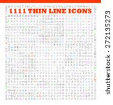 1111 thin line icons exclusive... | Shutterstock .eps vector #272135273