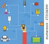 cellphone technology... | Shutterstock .eps vector #272136344