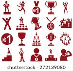 preview red icons in white ... | Shutterstock .eps vector #272139080