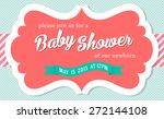 baby shower invitation card... | Shutterstock .eps vector #272144108