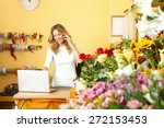 portrait of middle age florist... | Shutterstock . vector #272153453