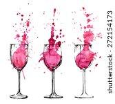 wine illustration   sketch and... | Shutterstock .eps vector #272154173