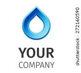blue water drop abstract vector ...   Shutterstock .eps vector #272160590