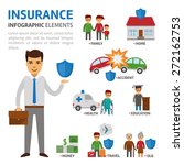 insurance broker infographic... | Shutterstock .eps vector #272162753