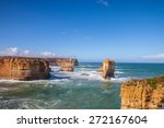 the clift with the blue sky   Shutterstock . vector #272167604