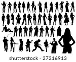 silhouettes of people | Shutterstock .eps vector #27216913