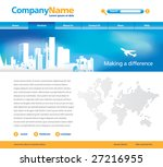 editable vector website...   Shutterstock .eps vector #27216955