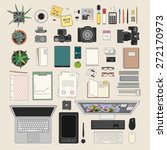 huge vector set of modern... | Shutterstock .eps vector #272170973