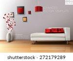 modern living room with white... | Shutterstock .eps vector #272179289