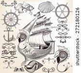 vector set of calligraphic... | Shutterstock .eps vector #272180126