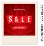 final sale design photo frame | Shutterstock .eps vector #272181380