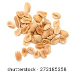 dried peanuts on white... | Shutterstock . vector #272185358