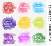 spring offer stickers with... | Shutterstock .eps vector #272186438