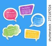 dialogue cloud. vector...   Shutterstock .eps vector #272187026