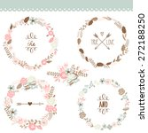 floral frame collection. set of ... | Shutterstock .eps vector #272188250