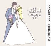 wedding collection. wedding... | Shutterstock .eps vector #272189120