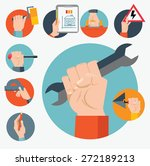standard cabinet tip... | Shutterstock .eps vector #272189213