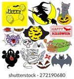 cartoon halloween vector...   Shutterstock .eps vector #272190680
