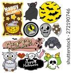 halloween vector graphics | Shutterstock .eps vector #272190746