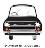 black cartoon car vector | Shutterstock .eps vector #272191868