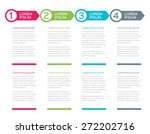 vector page template in modern... | Shutterstock .eps vector #272202716