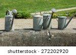 vintage metal watering cans   Shutterstock . vector #272202920