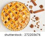 uncooked homemade rustic apple... | Shutterstock . vector #272203676