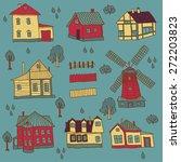 june houses set | Shutterstock .eps vector #272203823