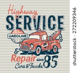 highway service station  vector ... | Shutterstock .eps vector #272209346
