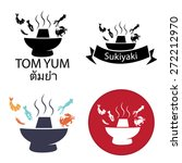 tom yum  sukiyaki  spicy hot... | Shutterstock .eps vector #272212970